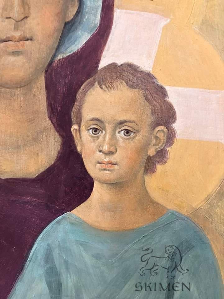 Богородица фреска иконостас Беслан