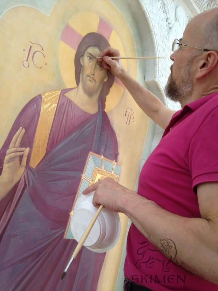 Спаситель фреска иконостас Беслан - автор Солдатов АН