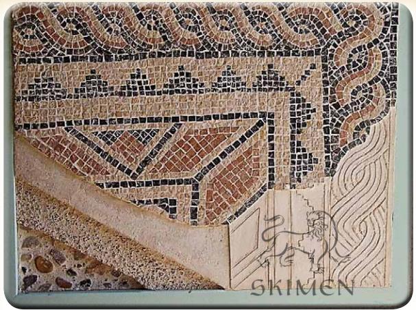Израиль. Ципори. Способ укладки римской напольной мозаики 2 века н.э.