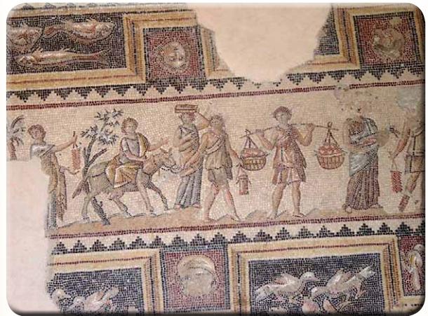 Израиль, Ципори. Римская напольная мозаика конца 2 века н.э.