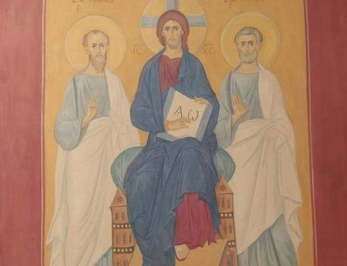 Роспись в храме в честь преподобного Варнавы Гефсиманского, г. Выкса