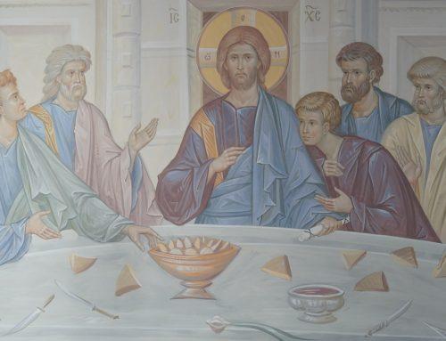 Роспись в трапезной Свято-Троицкого мужского монастыря, г. Рязань